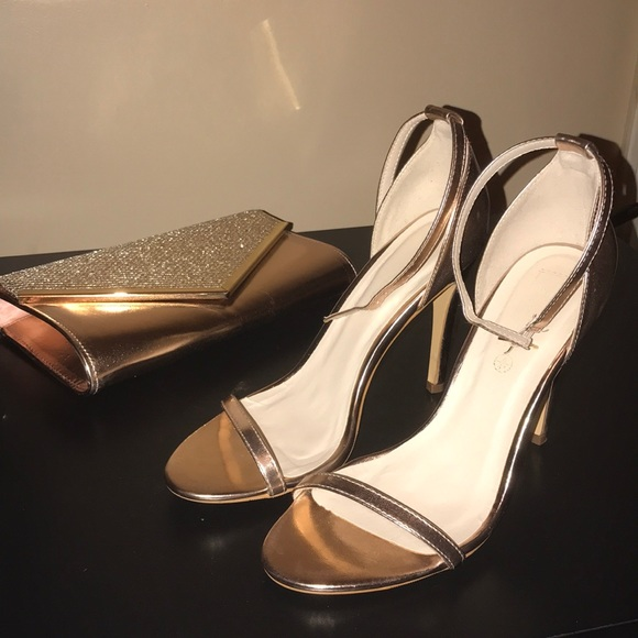 1a0c4aba22e5 ASOS Shoes - ASOS Rose Gold Wide fit sandal 10W worn once!